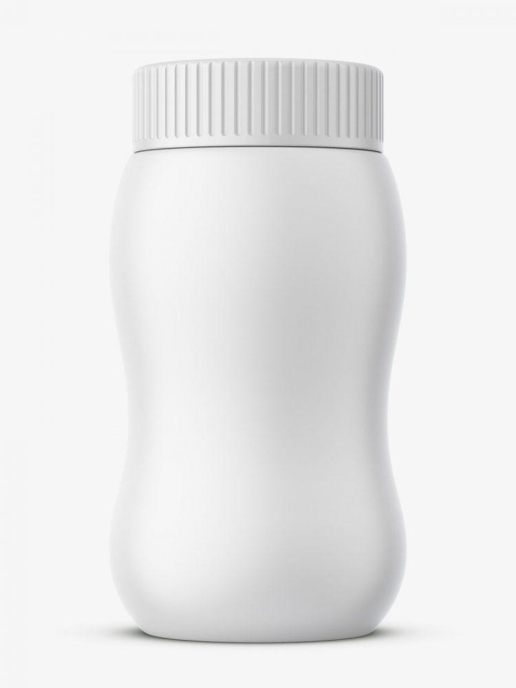 Universal plastic jar mockup
