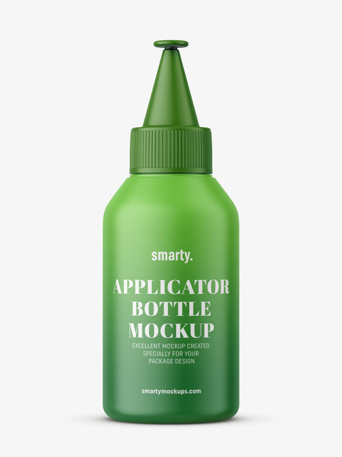 Small applicator bottle mockup