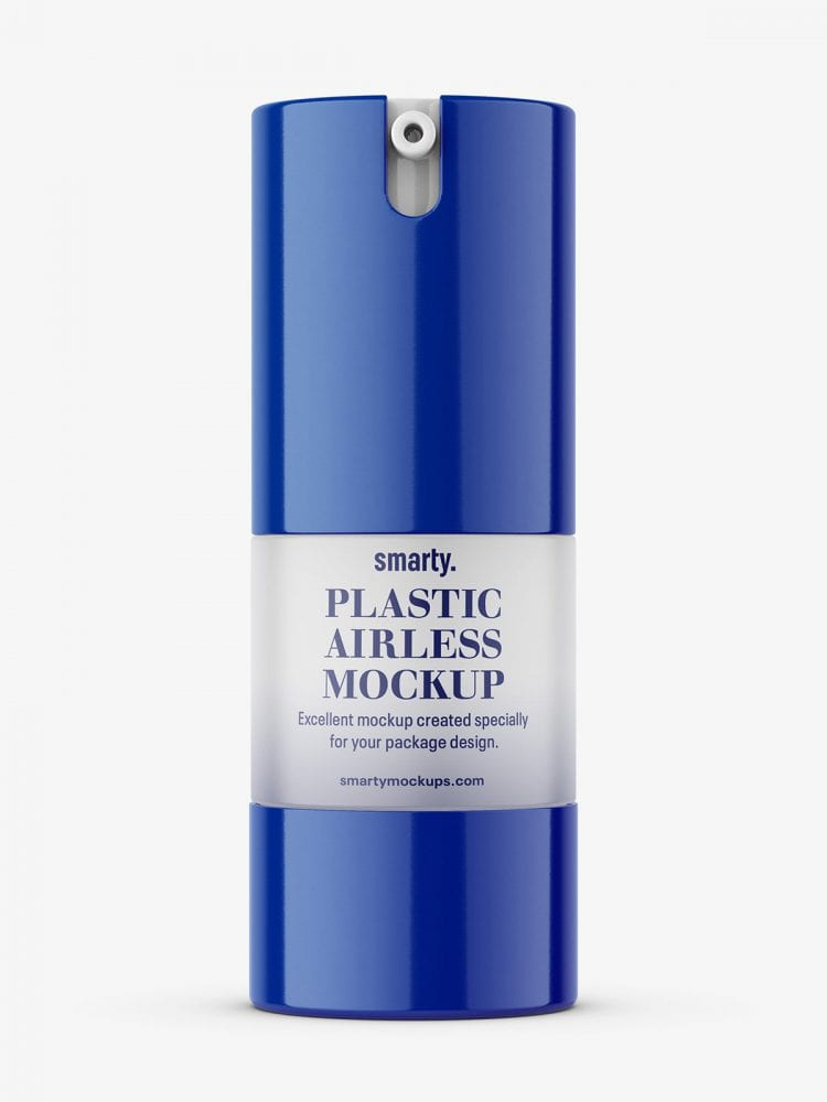 Cosmetic airless bottle mockup / 15 ml