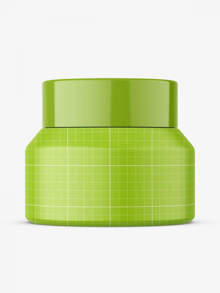 Amber cream jar mockup / 30 g