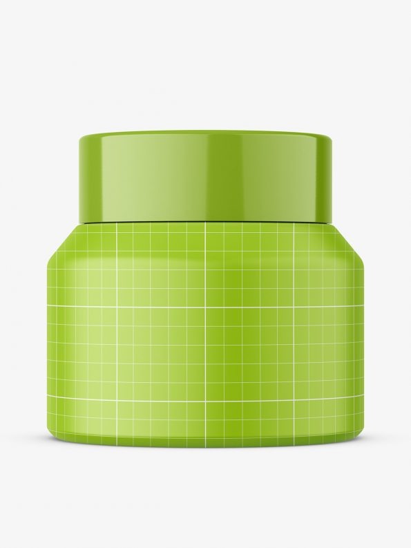 Amber cream jar mockup / 50 g