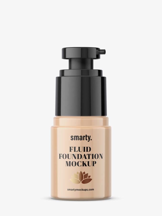 Fluid foundation mockup