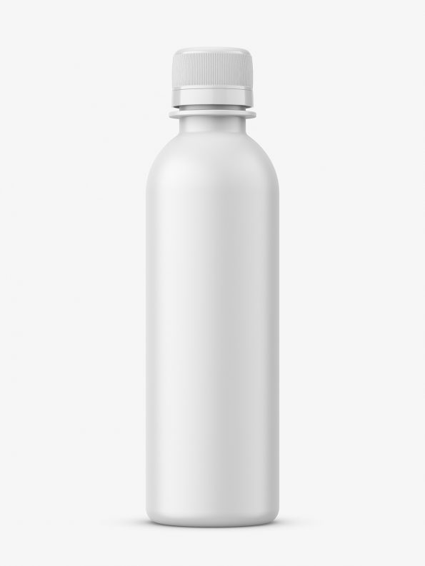 Universal matt bottle mockup
