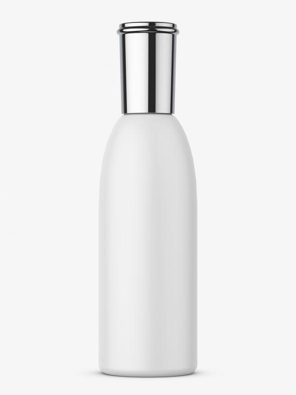 Cosmetic bottle with metallic cap mockup