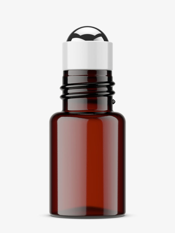 Small roll-on bottle mockup / amber