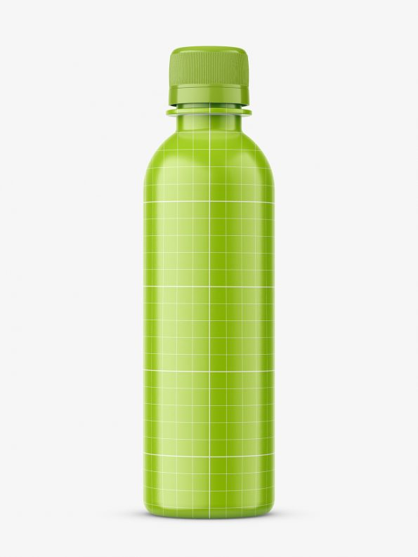 Universal transparent bottle mockup