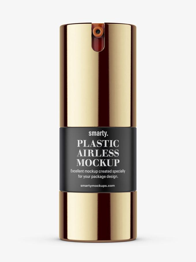 Metallic airless bottle mockup / 15 ml
