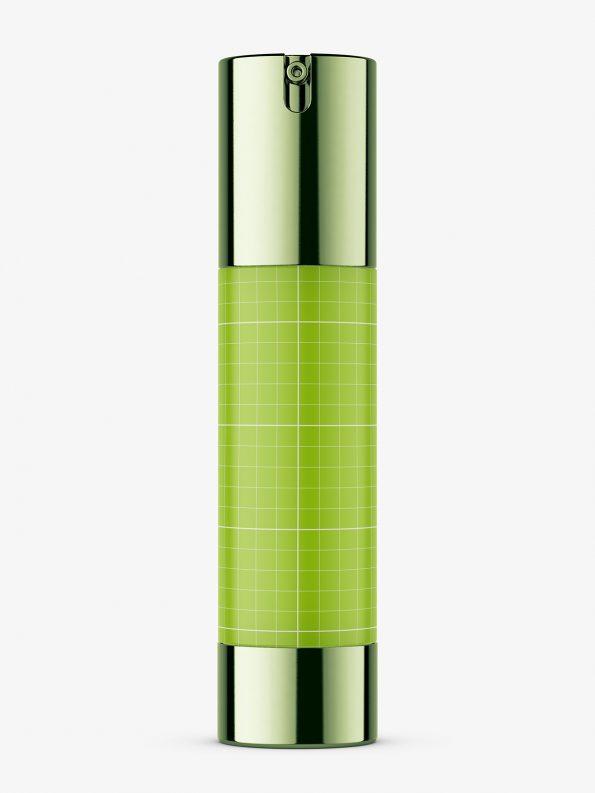 Metallic airless bottle mockup / 50 ml