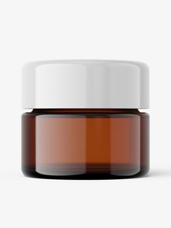 Classic amber jar mockup / 10 ml