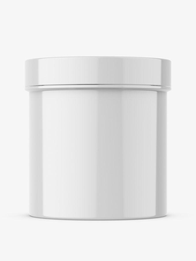 Plastic glossy jar mockup
