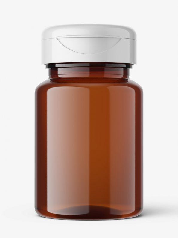 Universal jar mockup / amber