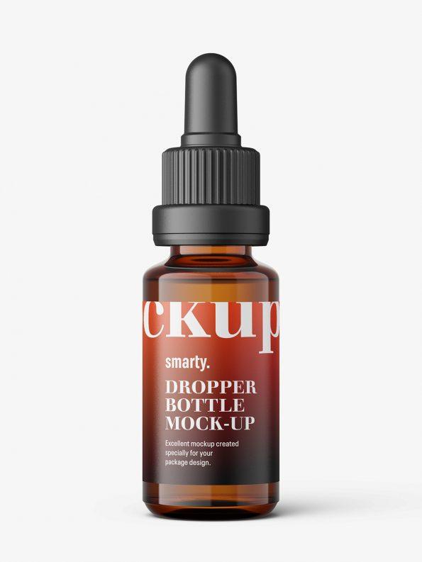 Amber dropper bottle mockup / 15ml