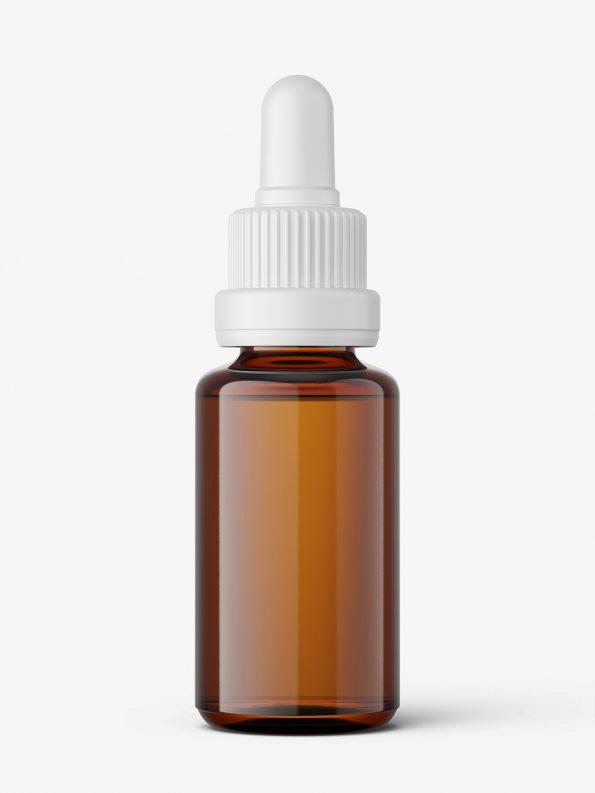 Amber dropper bottle mockup / 20ml