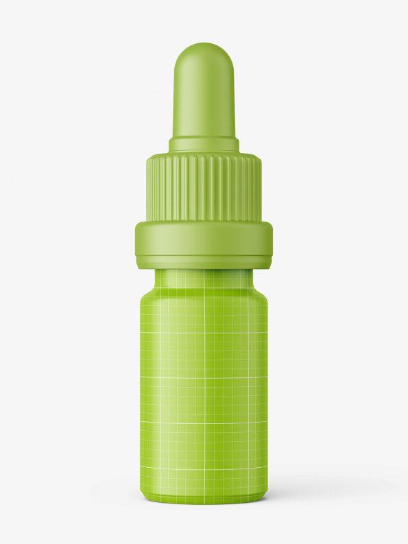 Amber dropper bottle mockup / 5ml