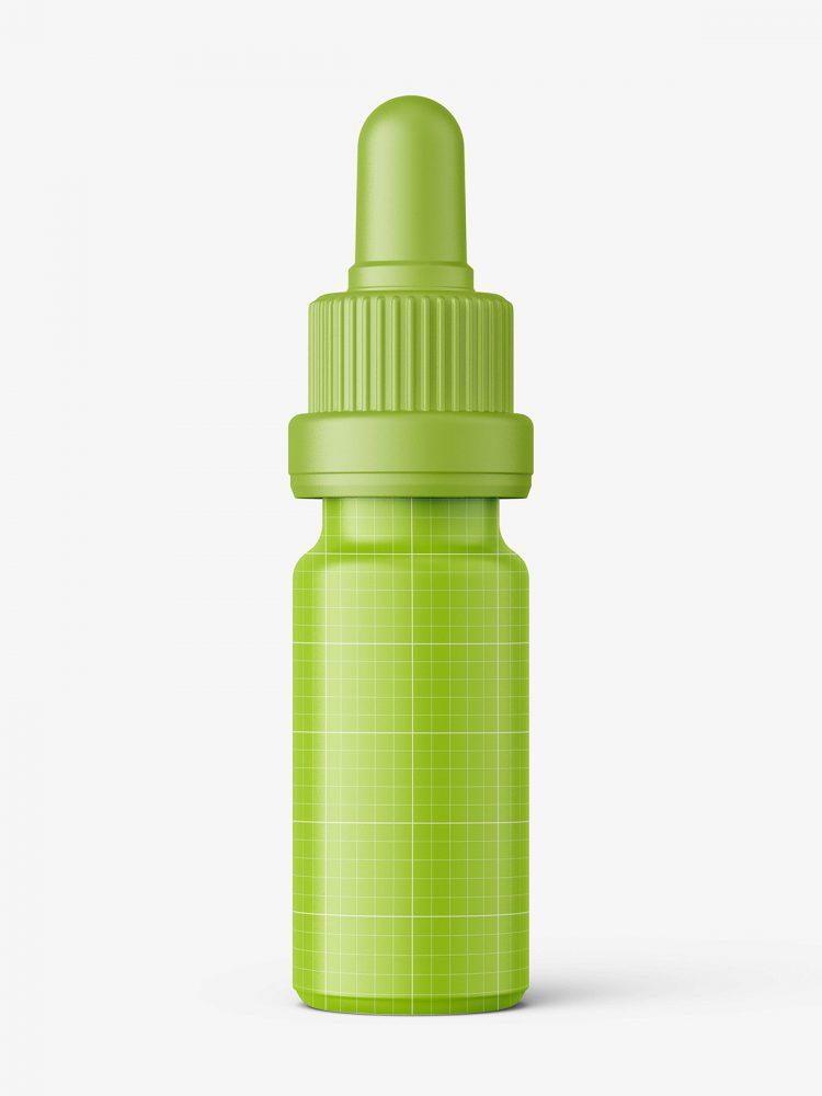 Blue dropper bottle mockup / 10 ml