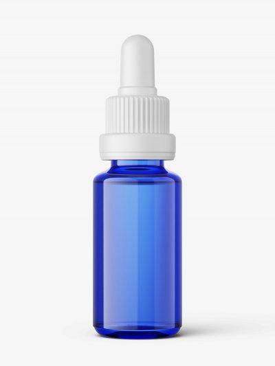 Blue dropper bottle mockup / 15ml
