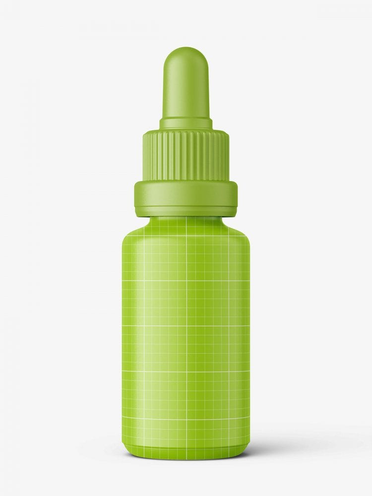 Blue dropper bottle mockup / 20ml