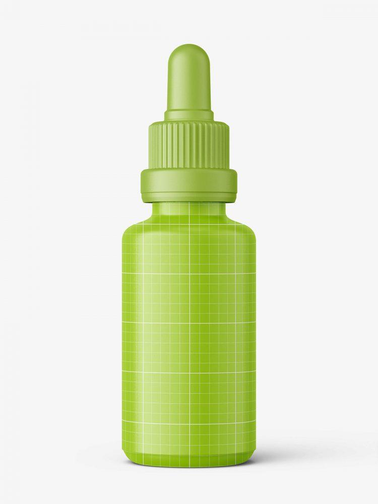 Blue dropper bottle mockup / 30ml
