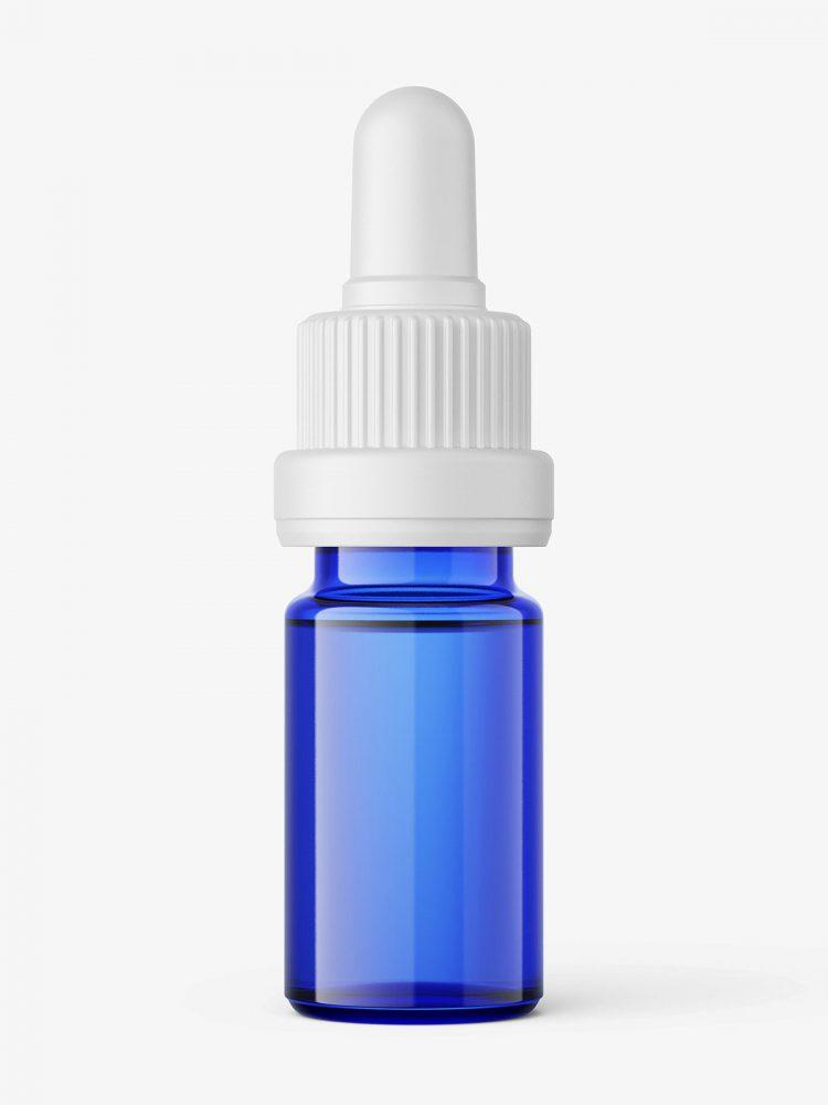 Blue dropper bottle mockup / 5ml