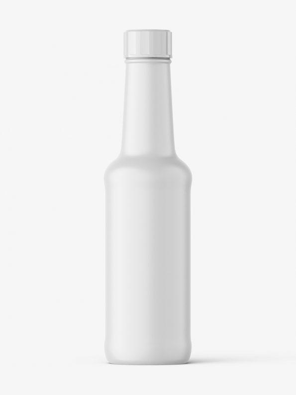 Universal food bottle mockup / matt
