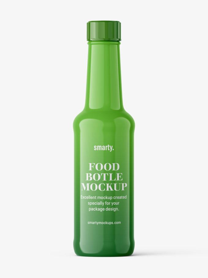 Universal food bottle mockup / glossy