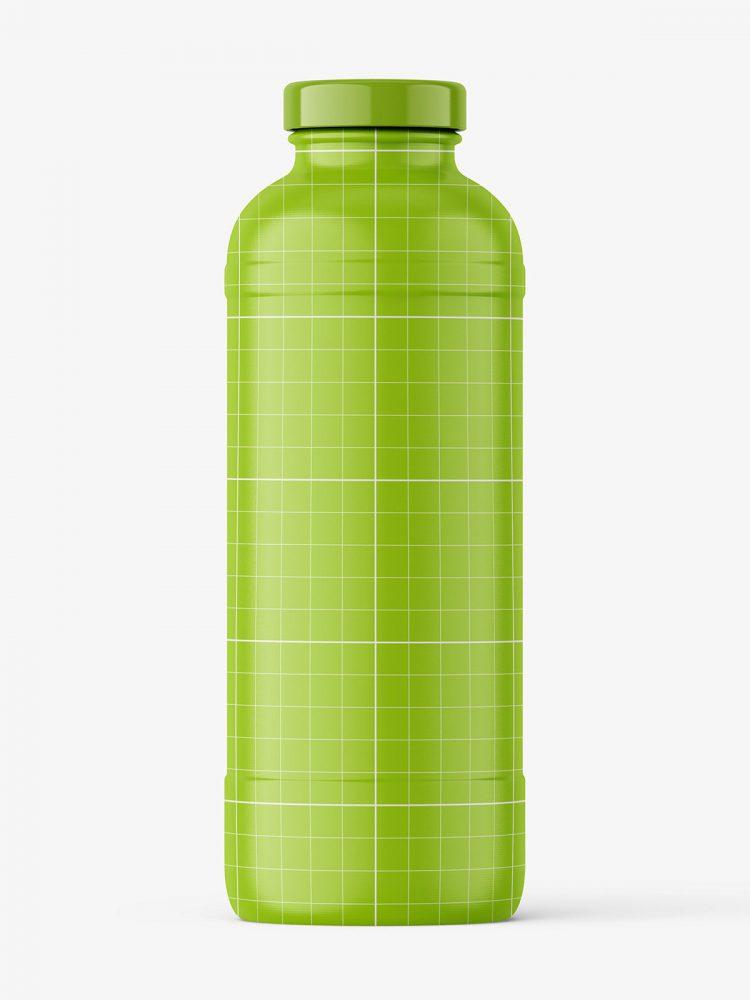 Red smoothie bottle mockup