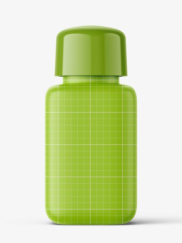 Square bottle with transparent gel mockup