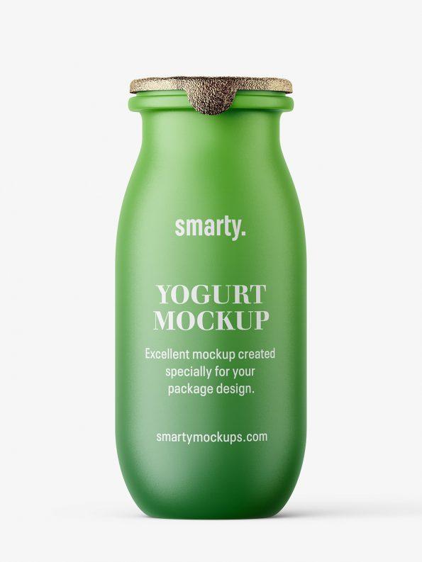 Yogurt bottle mockup / matt