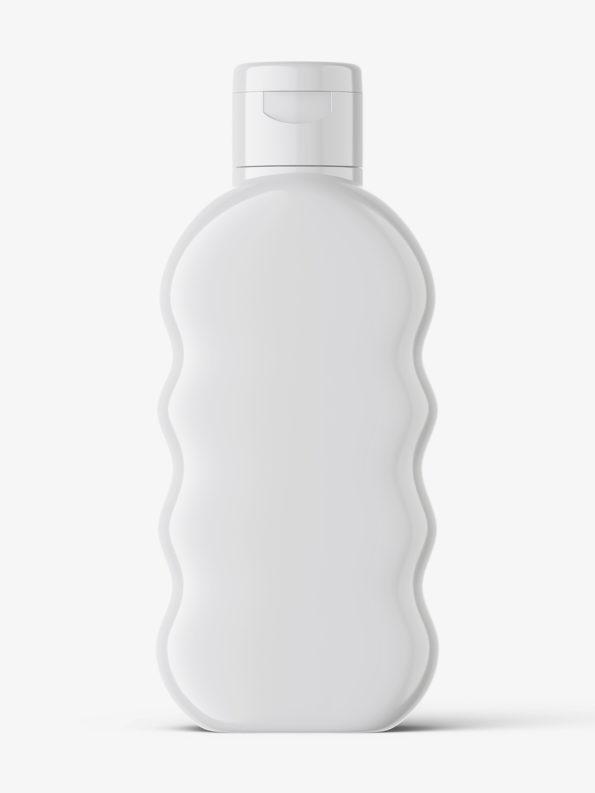 Baby oil bottle mockup / glossy