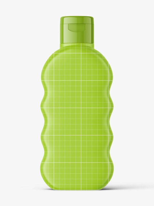 Baby oil bottle mockup / blue