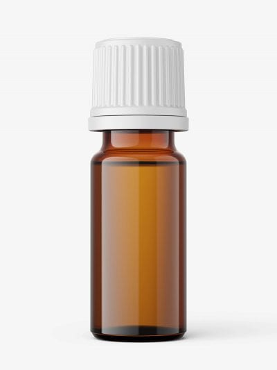 Amber essential oil bottle mockup / 10ml