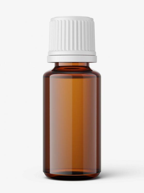 Amber essential oil bottle mockup / 15ml