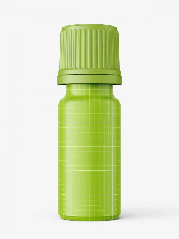 Blue essential oil bottle mockup / 10ml