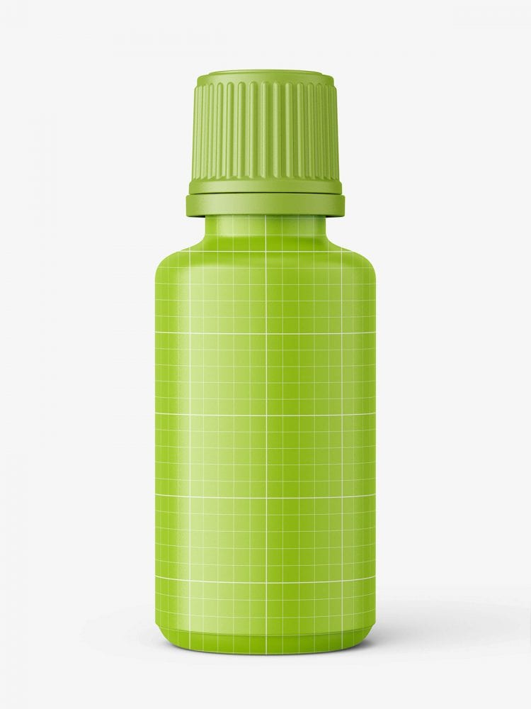 Blue essential oil bottle mockup / 30ml