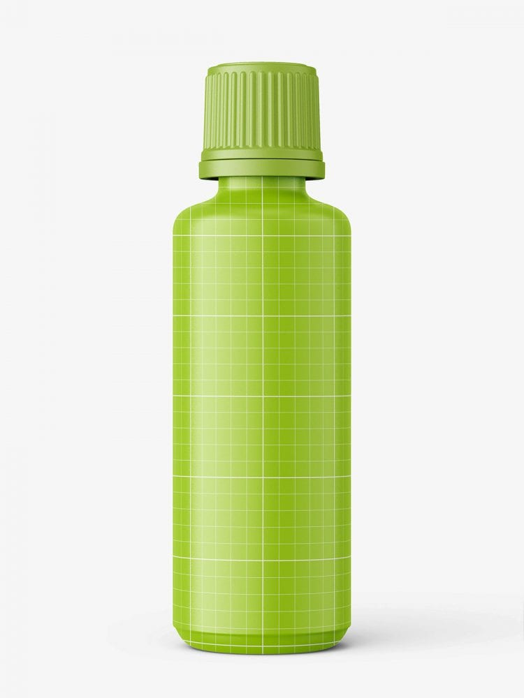 Blue essential oil bottle mockup / 50ml
