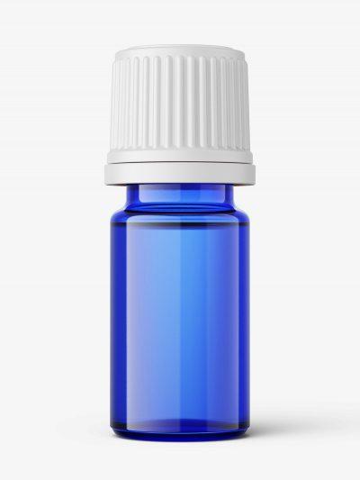Blue essential oil bottle mockup / 5ml