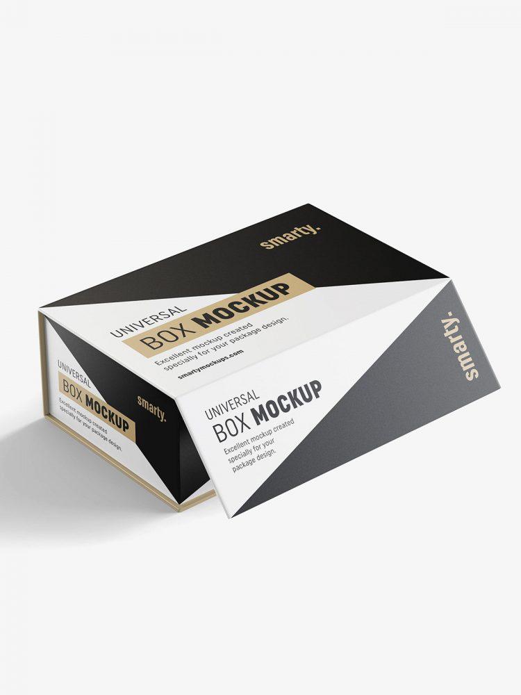 Cardboard box mockup / 160x90x260