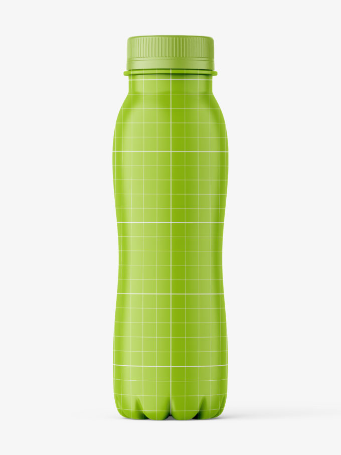 Red smoothie bottle mockup