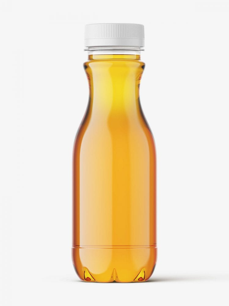 Apple juice bottle mockup