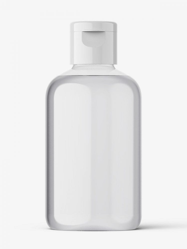 Boston bottle mockup - 100 ml / transparent