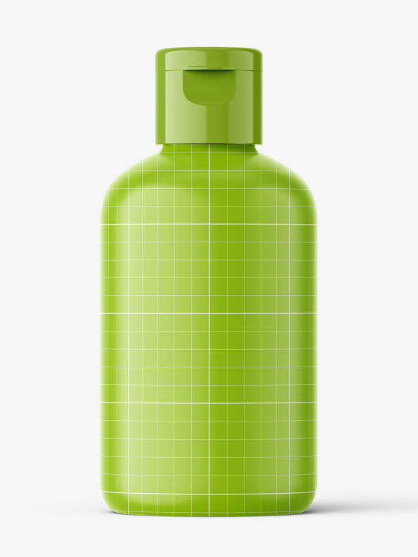 Boston bottle mockup - 100 ml / amber