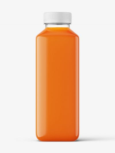 Carrot juice bottle mockup