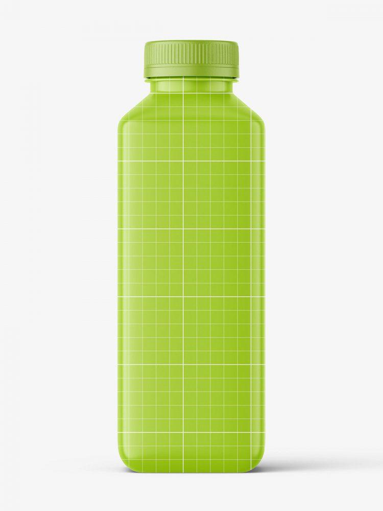 Carrot juice bottle mockup