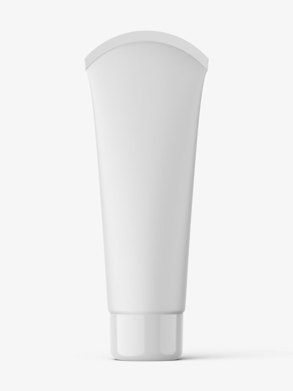 Cosmetic tube with rounded seal mockup / matt