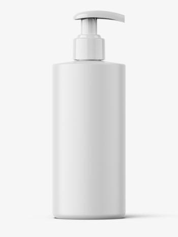 Matt bottle with pump mockup / 300 ml