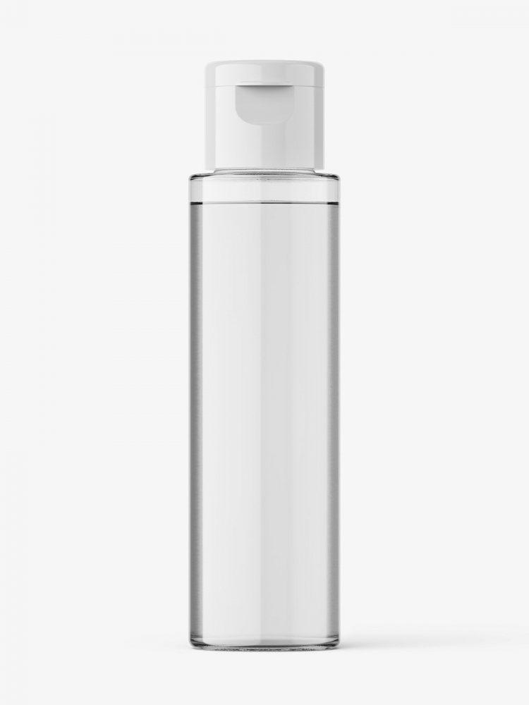 PET transparent bottle mockup / 30 ml