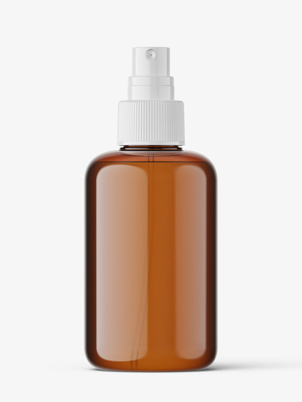 Spray bottle mockup / amber