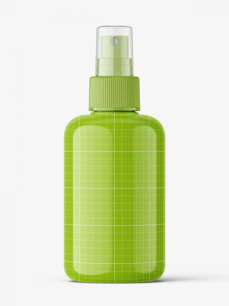 Spray bottle mockup / glossy
