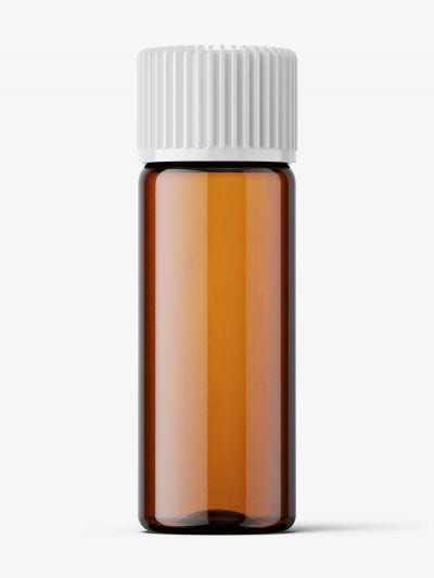 Small amber essential bottle mockup / 5ml