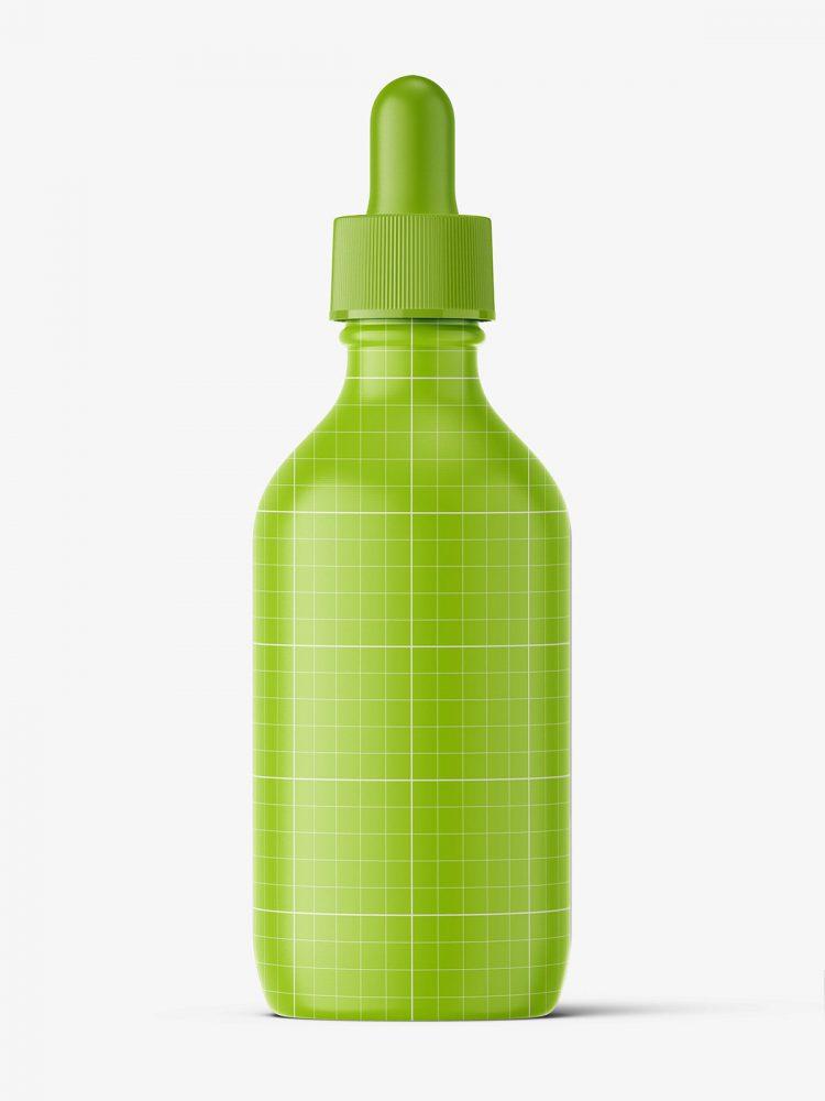 Amber winchester dropper bottle mockup / 150 ml